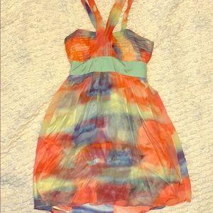 Peach tie dye dress